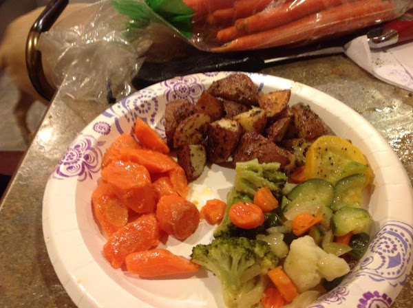 I just love vegetables and this was my vegetable dinner plate.