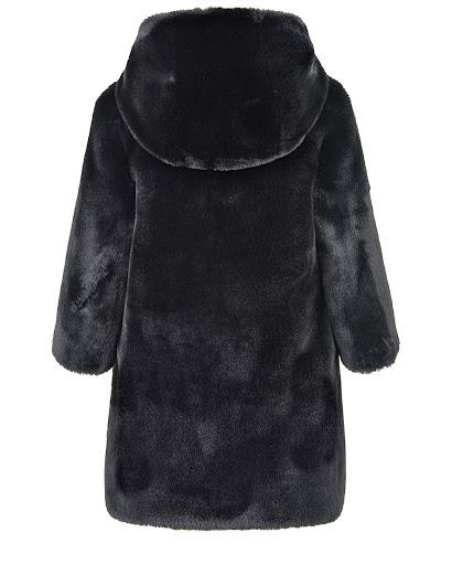 Черная шуба из экомеха детская Dior 9HBM13COAB 900