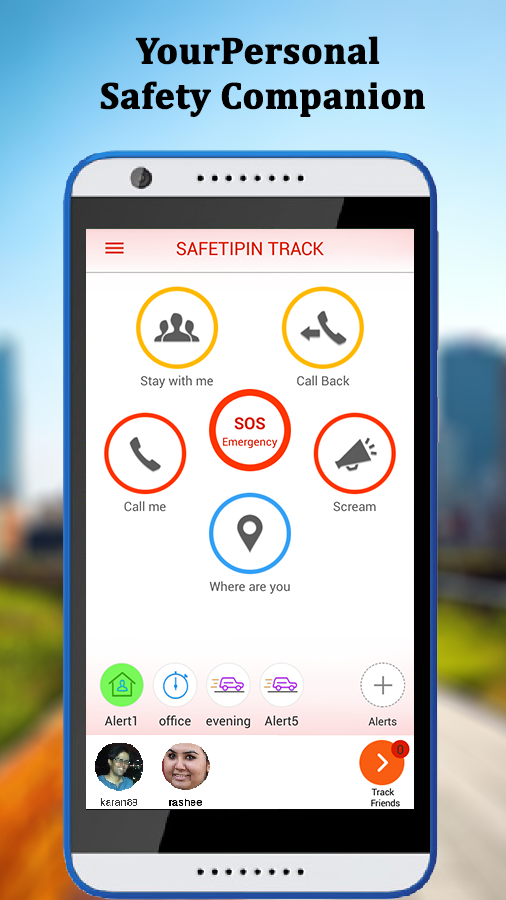 SafetiPin Track:GPS Tracker- screenshot