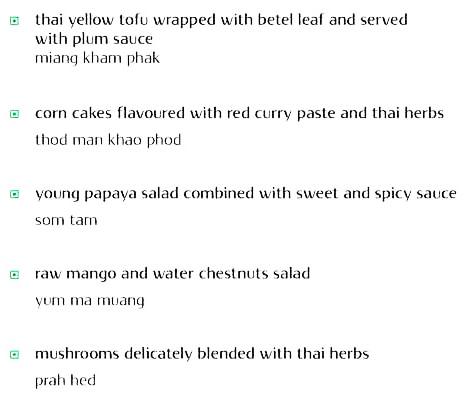 Thai Pavilion, Vivanta By Taj menu 5