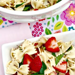 Strawberry Spinach Pasta Salad.