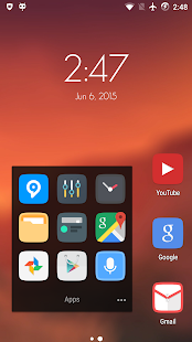 Clix - Launcher Theme - screenshot