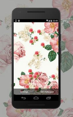 Vintage Flowers Wallpaper - screenshot