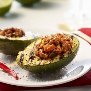 Grilled and Stuffed Avocado.