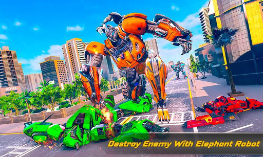 Flying Elephant Robot Transform: Flying Robot War 1.1.1 Screenshots 4