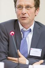 Photo: Philippe Lazzarotto, responsable des relations grandes écoles & universités chez GDF Suez, témoignant lors de la table ronde- Photo Olivier Ezratty