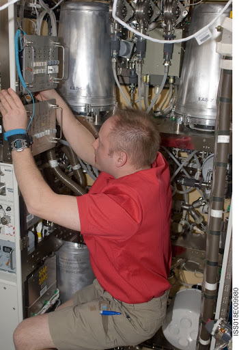 ISS Expedition 18 Hygiene Maintenance System in the US Laboratory Destiny