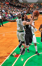 Photo: BOSTON, MA - OCTOBER 16:  Tornike Shengelia #20 of the Brooklyn Nets shoots the ball against Jeff Green #8 of the Boston Celtics on October 16, 2012 at the TD Garden in Boston, Massachusetts. NOTE TO USER: User expressly acknowledges and agrees that, by downloading and or using this photograph, User is consenting to the terms and conditions of the Getty Images License Agreement. Mandatory Copyright Notice: Copyright 2012 NBAE  (Photo by Brian Babineau/NBAE via Getty Images)