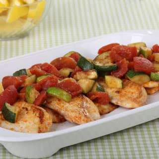 Whitefish With Tomatoes and Zucchini