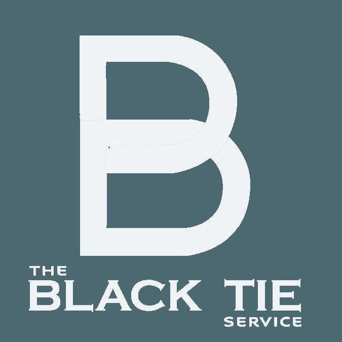 Black Tie Service White Logo
