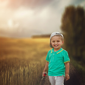 love you papa by Agha Rafay - Babies & Children Child Portraits ( child, portrait photography, nature, outdoor, portrait of child, kids, baby, landscapes, portraits, childrens, photography, portrait )