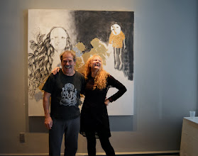 Photo: John Oughton and Brenda Clews at Urban Gallery - photo by Jennifer Hosein