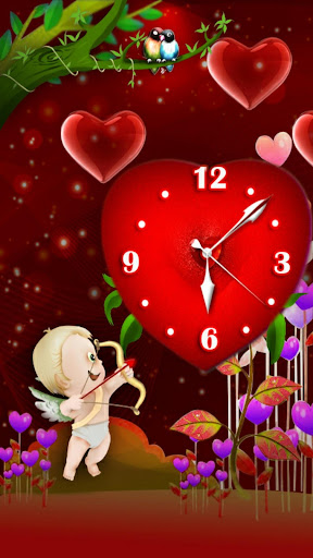 Valentine theme Love Clock