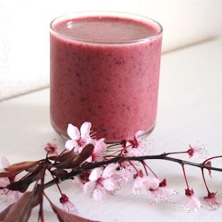 Dairy-Free Cherry Berry Vanilla Smoothie.