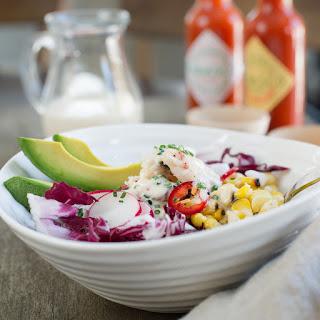 Dungeness Crab Salad with Buttermilk Garlic Pepper Dressing