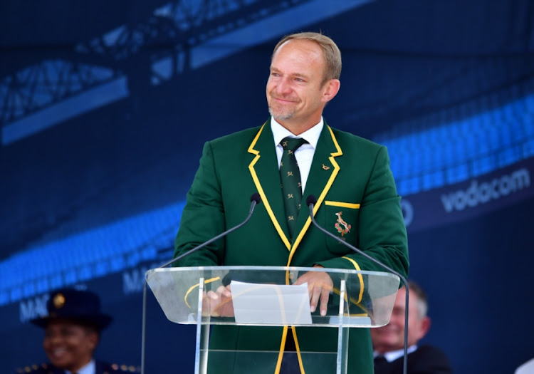 Francois Pienaar during the Memorial service of Joost van der Westhuizen at Loftus Versfeld on February 10, 2017 in Pretoria, South Africa.