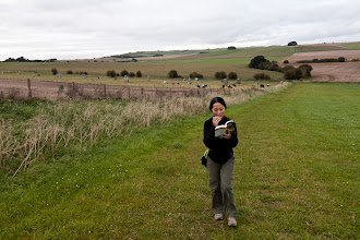 Photo: Reading the guidebook  while walking - not recommended