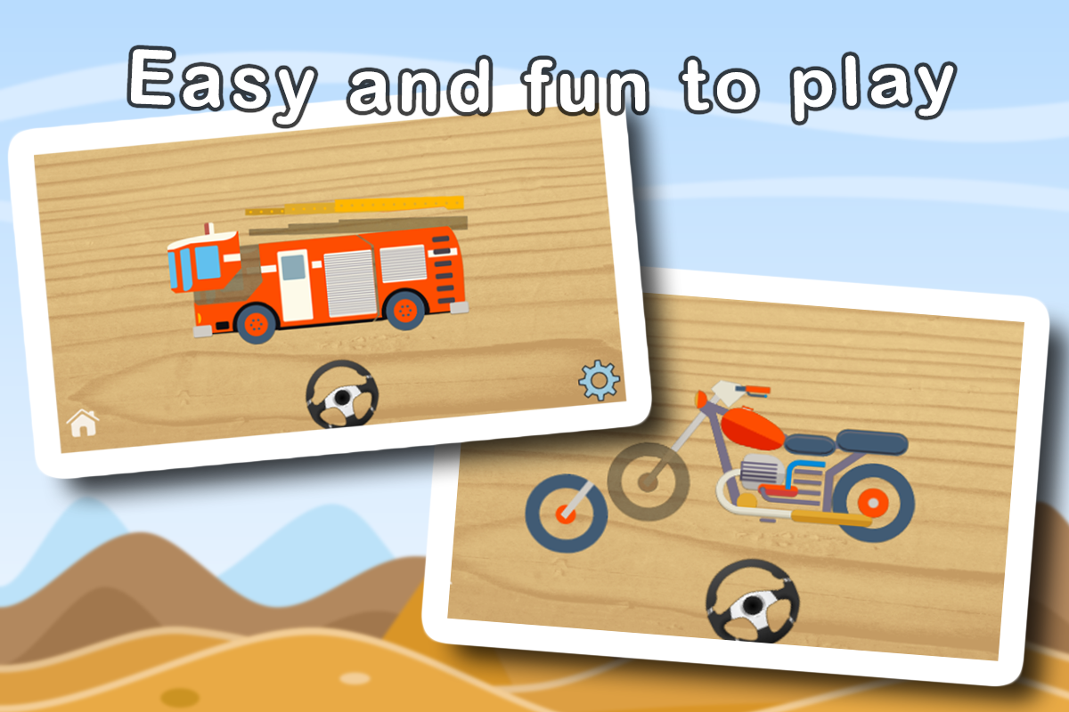 Wheels Puzzles For Kids - ABC- screenshot