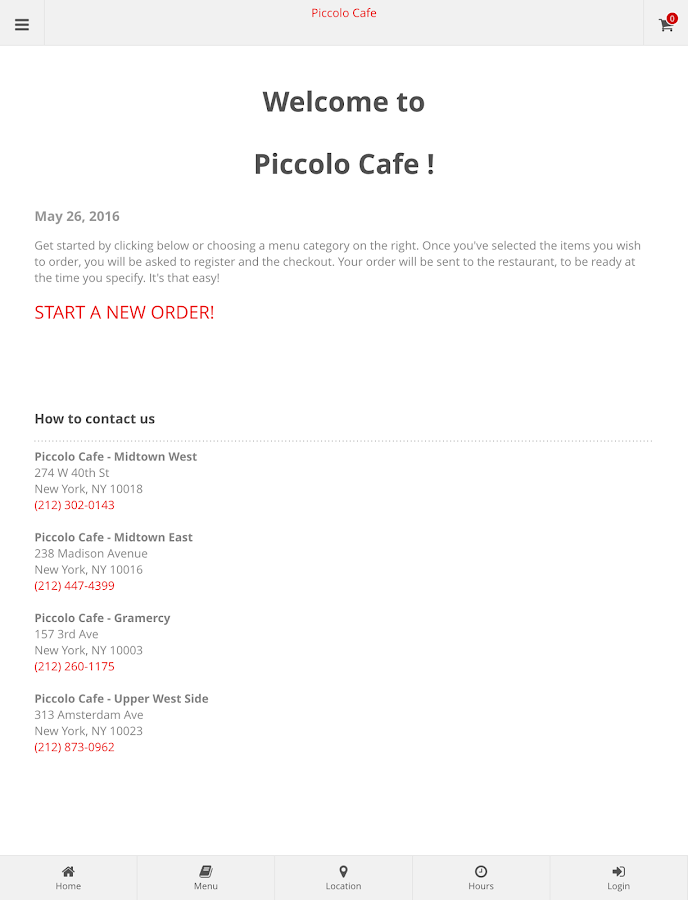 Piccolo Cafe Online Ordering- screenshot