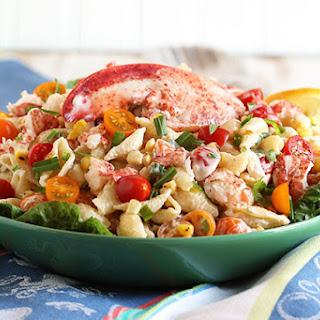 Lobster Pasta Salad with Lemon Tarragon Dressing.