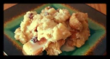 Louisiana Bread Pudding With Bourbon Cream Sauce Recipe
