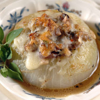 Baked Vidalia Sweet Onions with Sausage and Pecans