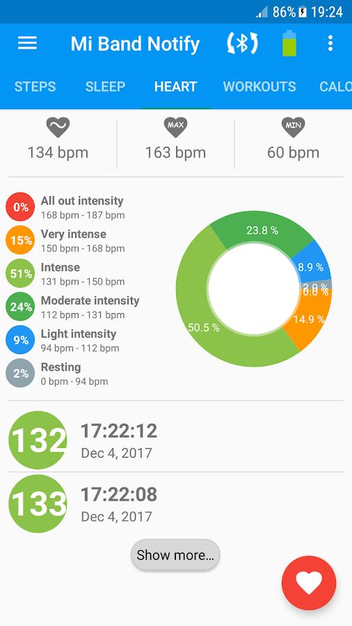 Notify & Fitness for Mi Band – знімок екрана