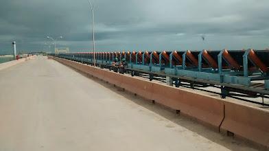 Photo: Esteira na ponte do Terminal-1