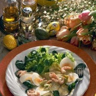 Artischocken-Ei-Salat mit Tiefseekrabben