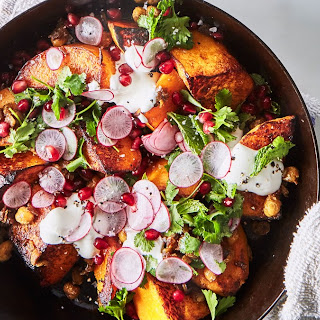 One-Skillet Roasted Butternut Squash with Spiced Chickpeas Recipe
