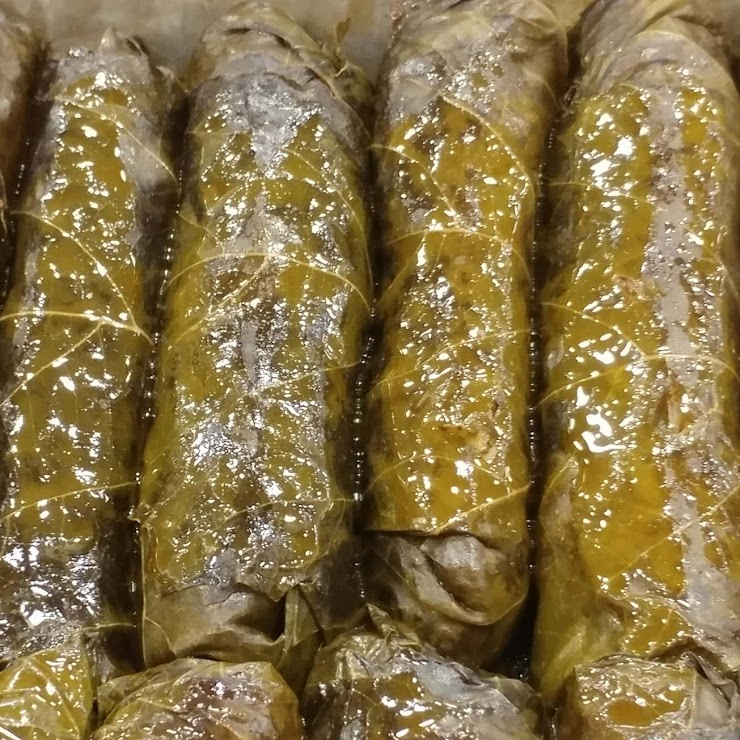 Grape Leaves stuffed with Rice, Onion, mild spices  (Vegan, GF)