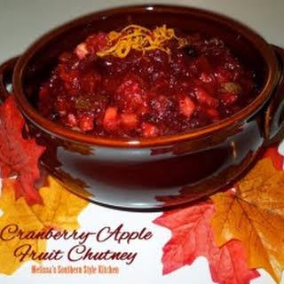 Cranberry Apple Fruit Chutney.