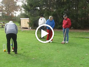 Video: Video 1:15 minutes - last day play: Russell, Joanne, Nancy St., Bob, Nancy Sp., Courtenay, DJ.