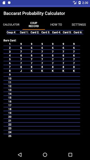 Baccarat Probability Calculator / u767eu5bb6u4e50u8ba1u7b97u5668 / ubc14uce74ub77c uacc4uc0b0uae30 100 screenshots 2