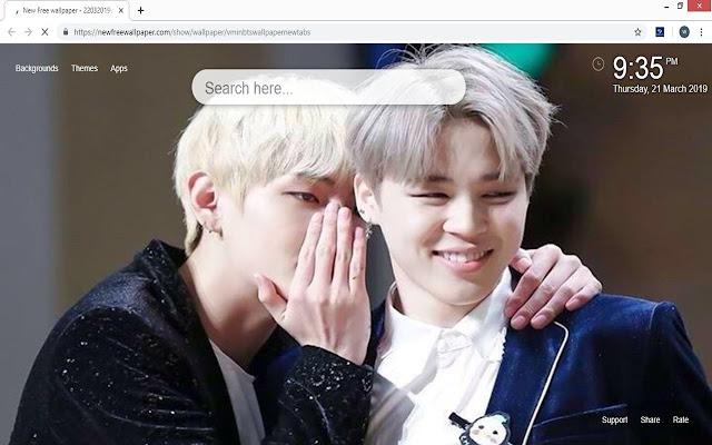 V Min BTS wallpaper new tabs