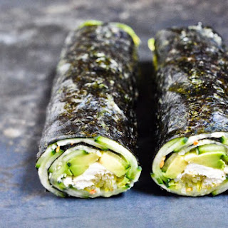 Cucumber and Avocado Quick Nori Roll