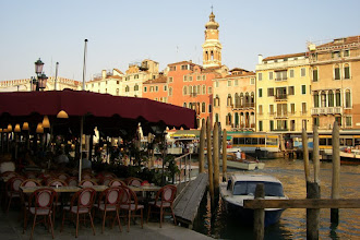 Photo: Restaurant on the canal in Venice, Italy