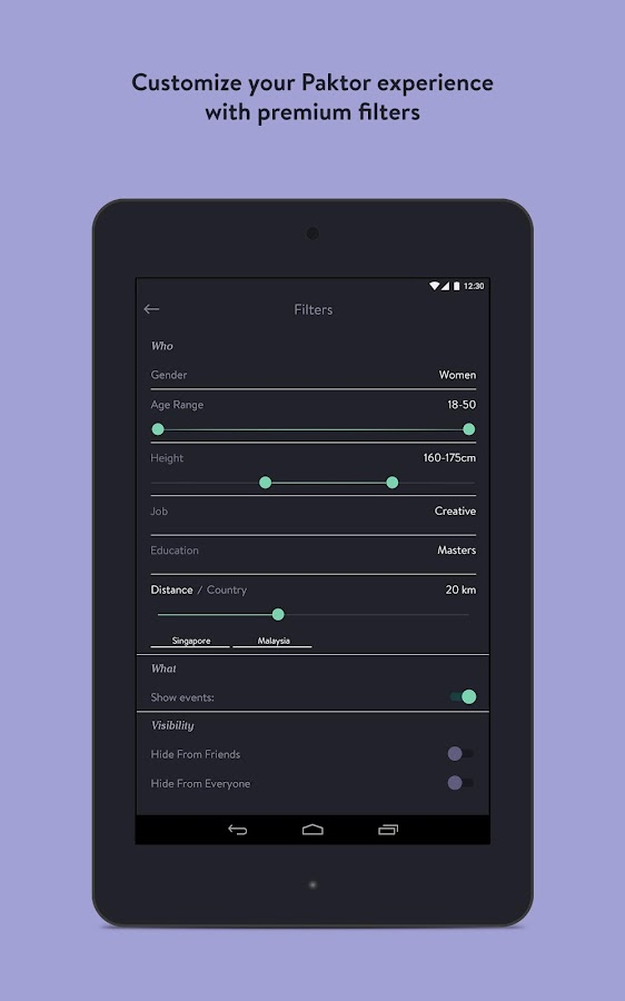 Paktor: Meet New People- screenshot