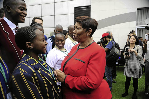 Different spin: Basic Education Minister Angie Motshekga and experts are at odds over the significance of the 2016 matric pass rate. Picture: THULANI MBELE