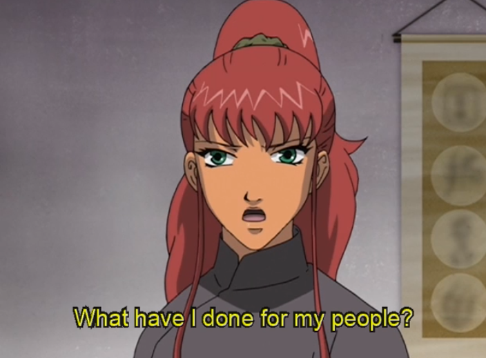 "Youko asks ""What have I done for my people?"""
