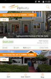 ZipRealty Real Estate & Homes screenshot 1