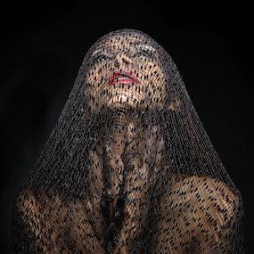 Vieled Secret by Mata Arif - People Portraits of Women ( sexy, girl, woman, beautiful, veil, beauty, young, women )
