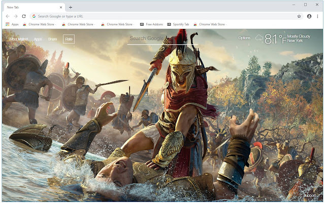 Assassin's Creed Odyssey HD Wallpaper New Tab