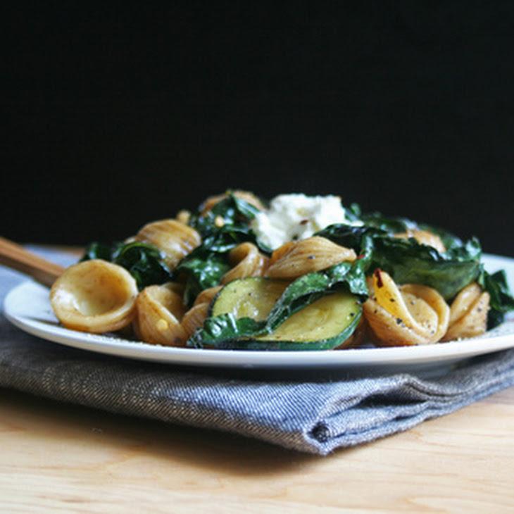 Orecchiette with Kale + Balsamic Coconut Dressing Recipe