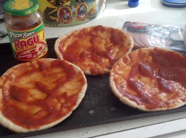 Sprinkle with 1 oz. of part-skim mozzerella cheese.