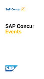 SAP Concur Events - náhled