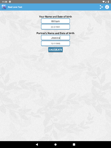 Test names compatibility using Love Calculator