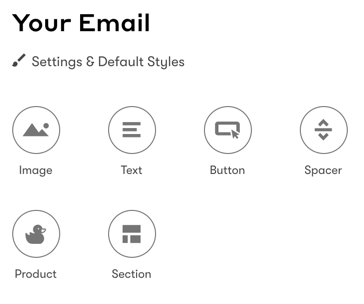 Add Elements to the body of your email