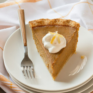 Pumpkin Pie with Gingered Whipped Cream Recipe