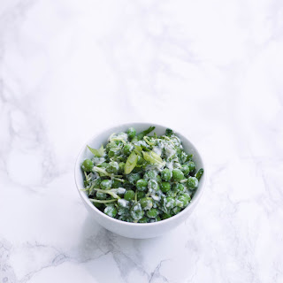 Spring Pea Salad with Lemon-Ricotta Dressing